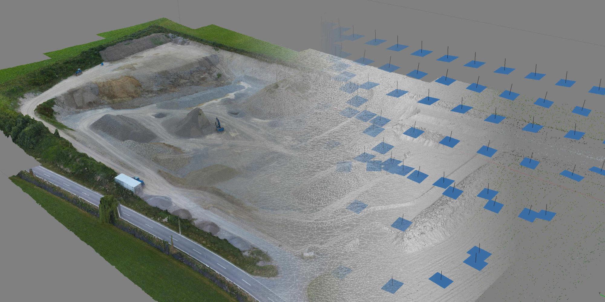 3D Drohnen Vermessung Kiesgrube Brutscher OFME Drone Maps [87653 Eggenthal]