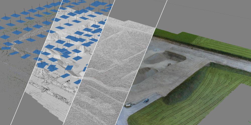 3D Drohnen Vermessung Kiesgrube Brutscher Points to 3D [87653 Eggenthal]