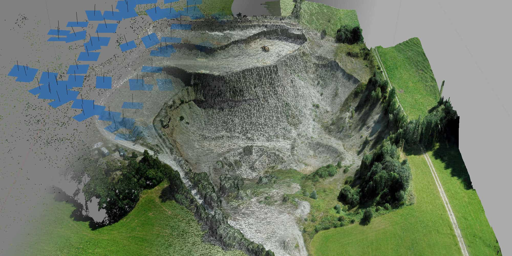 3D Drohnen Vermessung Kiesgrube Geiger OFME Drone Maps [87654 Friesenried]