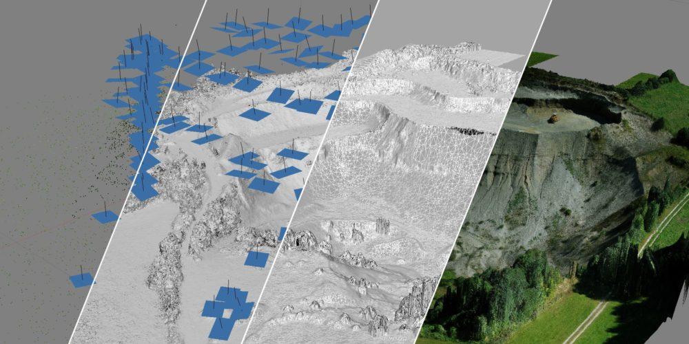 3D Drohnen Vermessung Kiesgrube Geiger Points3D [87654 Friesenried]