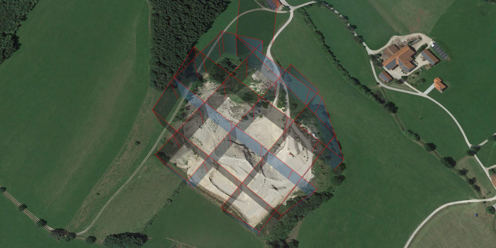 3D Drohnen Vermessung Kiesgrube Geiger Waypoints [87654 Friesenried]