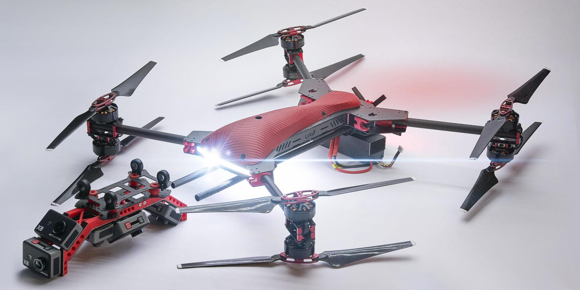 ViraCopter 4x8 RedKite 750 Oktokopter Drohne mit 8x 12 MPixel Kamera Array